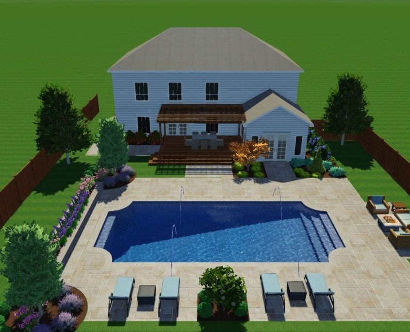 3D Pool Design to visualize your pool. Call us for free estimation