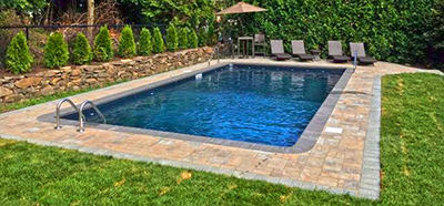 Stunning rectangle inground pool, North Bergen, NJ, Metropools