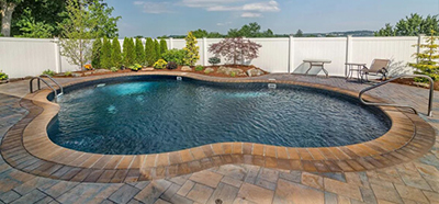 Inground Pools NJ - Free Form Vinyl Liner Inground Pool, NJ, Metropools