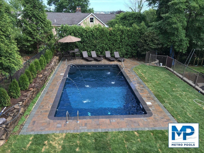 Custom Waterfall Landscape Design, Metropools, New Jersey