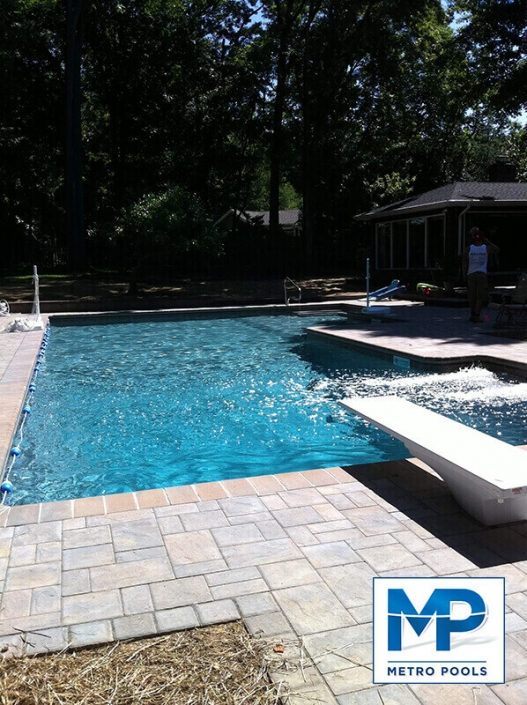 Enjoy your summer day by this amazing inground pool and spa East Hanover NJ Metropools