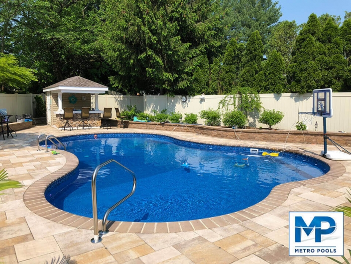 Landscape Designed Inground Pool, New Jersey, Metropools