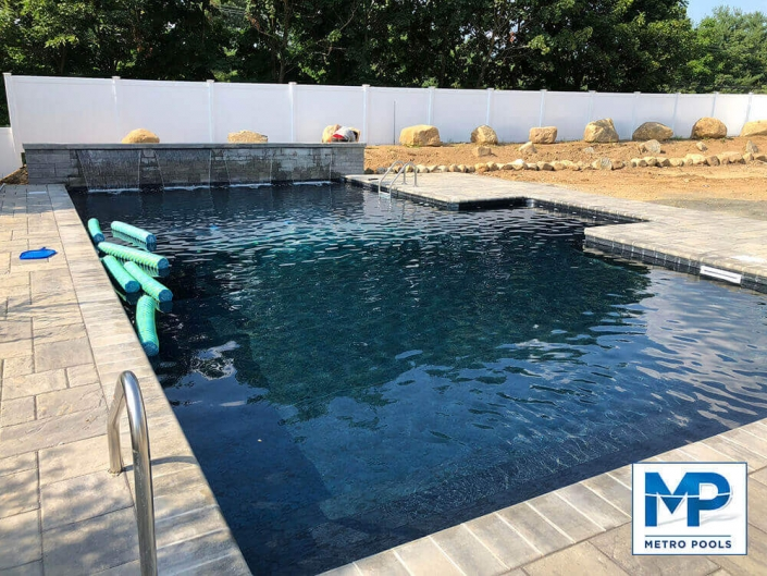 Amazing Deep Blue Inground Pool in New Jersey, Metropools
