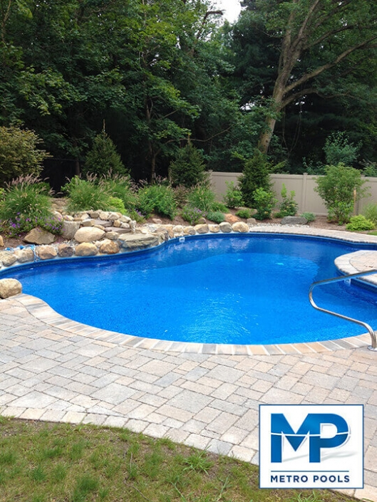 Crystal Clear Blue Free Form Inground Pool, Metropools