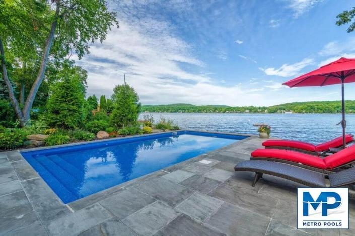 Beautiful Seaside Inground Swimming Pool, Metropools, New Jersey