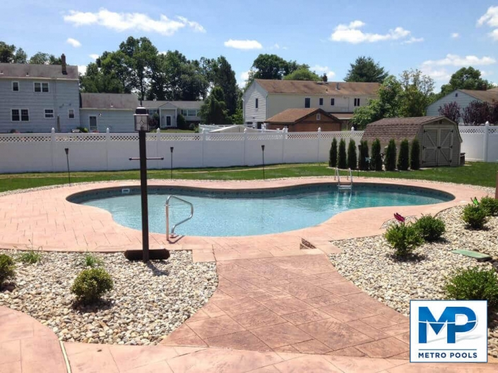 Custom Backyard Swimming Pool Organic Shape, Metropools, New Jersey