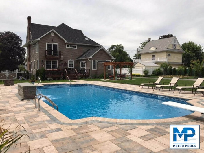 Deep, Blue Vinyl Liner Swimming Pool, Metropools, NJ