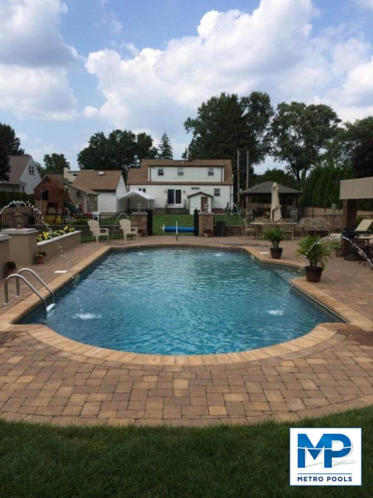 Perfect Backyard Inground Swimming Pool, Metropools, NJ